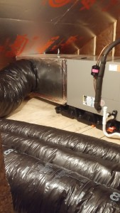 attic air handler and insulation
